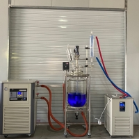 Cheap Anti-explosion Chemical Jacketed Cooling Reactor Chemistry 10L 20 L 30L Double Borosilicate Glass Reactor with Chiller for sale
