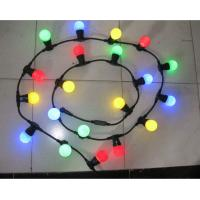 Cheap Holiday lighting E27, IP44 lamp cable,500 mm spacing, 50 m per piece Led decorative lighting for sale