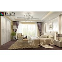 China Louvred Modern White Wood Bedroom Furniture Sets Folding Wardrobe With Big Size on sale