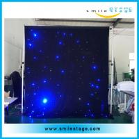 Buy cheap Used led star curtain backdrop pipe and drape for wedding from wholesalers