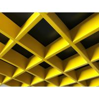 Buy cheap 0.4~0.7mm Open Cell Suspended Ceiling Acoustic Performance 150x150mm / 200x200mm from wholesalers