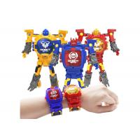 Cheap Children's Transformer Toys Digital Deformation Robot Watch With Adjustable Time for sale