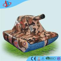 Cheap Inflatabel Camouflage Tanks , Inflatable Sports Game , Inflatable Party Games for sale