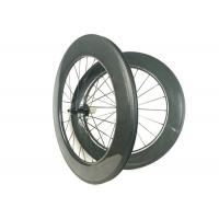 Quality 700C 88mm Carbon Wheels , Carbon Disc Road Wheels Hand - Built WIth R13 Hub wholesale