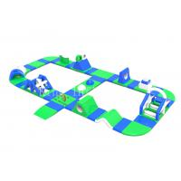 Buy cheap Outdoor Green PVC Tarpaulin Inflatable Water Obstacle Course For Adults from wholesalers