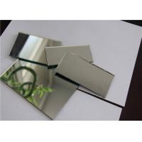 Cheap Single Coated Aluminum Mirror Glass Shape Customized For Building Decorations for sale