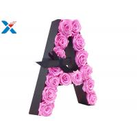 Buy cheap Luxury Rose Gift Acrylic Flower Box A Letter Flower Box With Lid Non - Toxic from wholesalers
