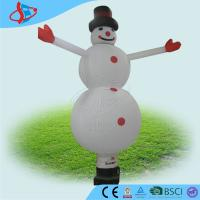 Cheap White inflatable outdoor santa claus / inflatable advertising signs with Snowman for sale