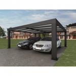 Cheap Intelligent Garage Parking Shed / LED Solar Garage Automatic Carport Garden Door 5.52 x 3.52 x 2.4 m390 kg for sale