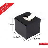 Square Mini Transparent Facial Tissue Box , Acrylic Holder Stand For Hotel