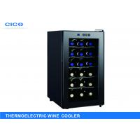 Cheap Freestanding 18 Bottle Thermoelectric Wine Cooler LED Temp Control for sale