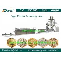 China Double screw extruder machine for Soya Protein , soybean extruder machine on sale