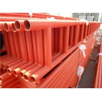 Cheap Durable Red 6M Scaffold Ladder Beam High Tensile HDG / Painted Steel Tubes for sale