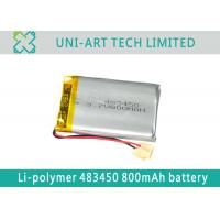 Buy cheap Cost valuable lithium polymer battery 483450 800mAh for GPS, payment terminals from wholesalers