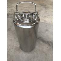 Cheap Customized SS Home Brew Keg , 5 Gallon Corny Keg With Pressure Relief Valve And Lids for sale