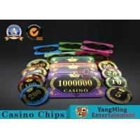 Cheap Acrylic Crystal RFID Rectangular Poker Chips Plaque Casino Jeton Real Gaming for sale