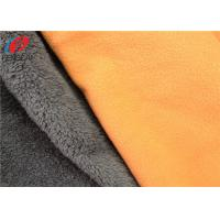 Cheap Soft Shell TPU Coated Fabric Polar Fleece Bonded With Polyester Velboa Material for sale