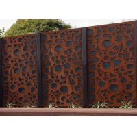 Cheap Rusty Finish Large Outdoor Metal Wall Sculpture OEM / ODM Acceptable for sale