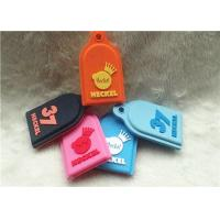 Cheap SGS Personalized Promotional Gifts / Multi - Colored Embossed Or Debossed Silicon PVC Keychain for sale