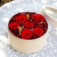 Cheap Luxury Gift Real Preserved Roses In Velvet Box That Lasting 3 Years for sale