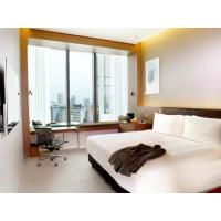 Quality Fashion Apartment Hotel Room Furniture Wooden Headboard with Storage Bed and wholesale