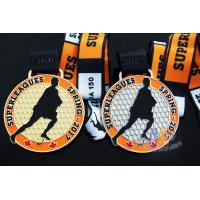 Cheap 10k Custom Sports Medals With Soft Enamel Sublimated Ribbon For Canada Hockey Baseball Racking for sale