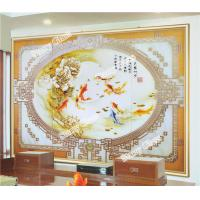 Cheap Painting Engraved Glass Background Wall for sale