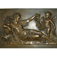 Cheap Mother With Angel Wall Art Bronze Relief Casting Surface Finish WS-C485 for sale