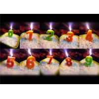 Beauty Stitches Printed Numerical Birthday Candles White Short Line Border Wax Manufactures