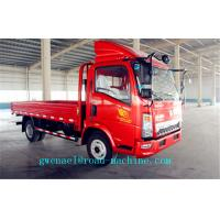 Cheap HOWO 4X2 4T Light Duty Commercial Trucks ,  Cargo Flatbed Truck for sale