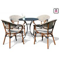 Cheap Backyard Patio Furniture Round / Square Outdoor Dining Table With Textoline Garden Chairs  for sale