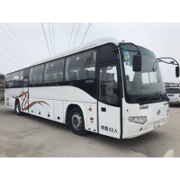 Cheap Low Kilometer Airbag Chassis Euro III Good Condition Double Doors Used Coach Bus Higer Brand Model KLQ6129 53 Seats for sale