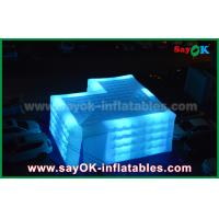 Buy cheap Customize Square Inflatable Air Tent With Led Light Outdoor Actitive from wholesalers