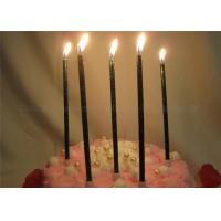 Buy cheap Glittery Black Birthday Candles Dark Green Shimmering Powder Glitter Pillar Candles from wholesalers