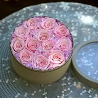 Cheap Romantic Everlasting Real Preserved Rose Flower Large Single Rose in Drawer Gift Box for Decoration Gift for sale