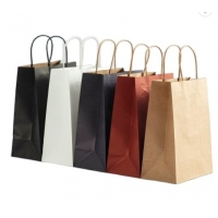 Cheap Double Wall 28*22*28cm Eco Friendly Paper Bag for sale