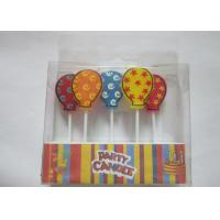 5pcs Balloon Shape Colorful Toothpick Candles / Party Decorative Candles Manufactures