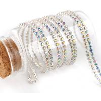 Cheap strass close cup chains rhinestone crystal ab color for sale