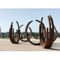 Cheap Dancing Ribbons Appearance Corten Steel Sculpture For Outdoor Decoration  for sale
