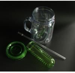 600ml mason jar with straw/double wall tumbler
