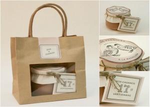 Cheap Reusable Kraft Block Bottom Paper Bread Bags for sale