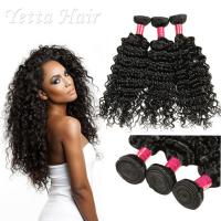 Cheap 6A Peruvian Virgin Curly Hair Extensions / Soft 100% Human Hair Wefts for sale