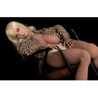 Cheap 167mm Golden Hair Sex Silicon Doll Full TPE Big Boob Sex Love Company for sale