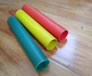 China 30mm colorful  high temperature glass fiber tube insulated round  fiberglass pipe for  thermo electric plant on sale