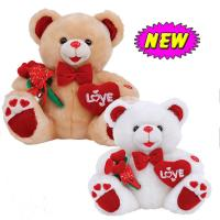 Toys For Valentines Day : Inch valentines day teddy bear with flower and heart