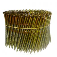 Wire Collated Screw Shank Coil Nails For Construction Diamond Point Available