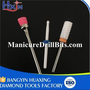 China 3pcs Electric Nail File Drill Kit Include 2 Pcs Ceramic Nail Bits And 1 Pcs Nail Brush on sale