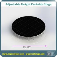 Portable stage platform mobile stage event stage equipment round stage for wedding decoration black color wooden stage Manufactures