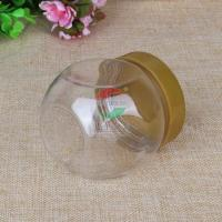 Quality 225ml Small Transparent Plastic Jar For Dry Fruit / Cookies Waterproof wholesale