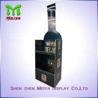 Fashion design corrugated cardboard floor displays for acrylic red wine racks Manufactures